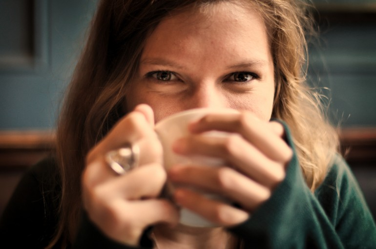 Manners Matter woman drinking coffee image